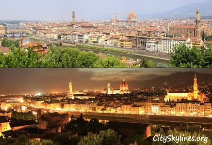 Florence City Skyline - Day & Night