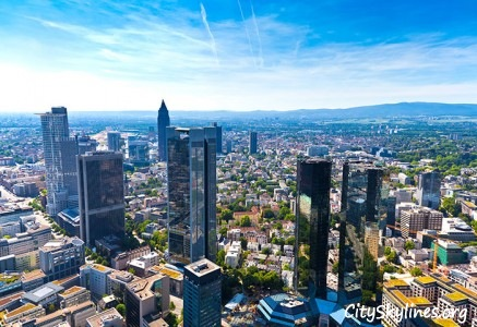 Frankfurt City Skyline in Germany - Sky Overlook