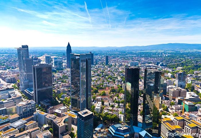 Frankfurt City Skyline in Germany - Sky Overlook