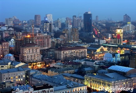 Kiev City Skyline, Ukraine