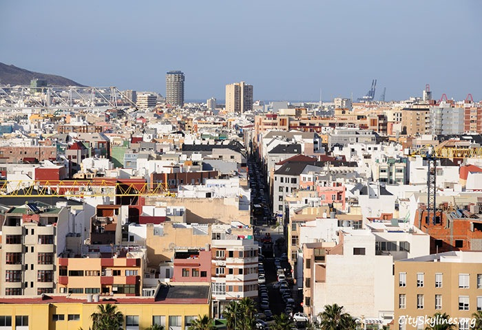 Las Palmas Skyline in the Canary Islands