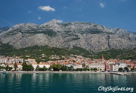 Makarska Skyline with Mountain Backdrop - Croatia