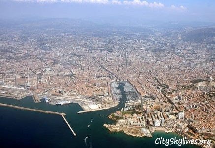 Marseille City Skyline, France - Sky Aerial View