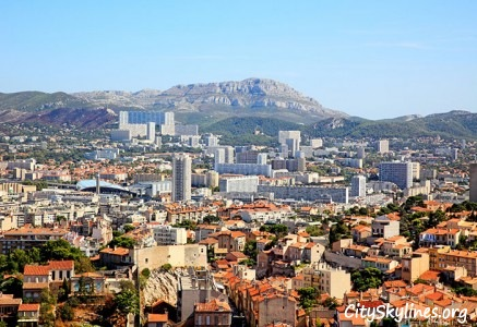 Marseille City Skyline - Mountain Backdrop