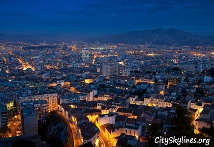 Marseille City Overlook - Night View