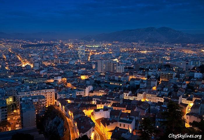 Marseille City Overlook - Night View