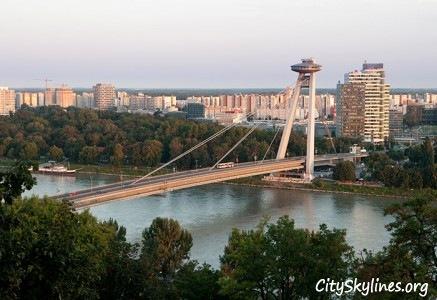 Bratislava Skyline - Bridge & Canal View