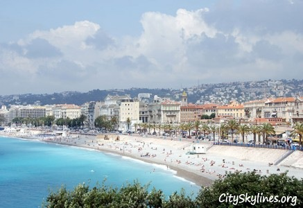 City of Nice Skyline, France - Beach View