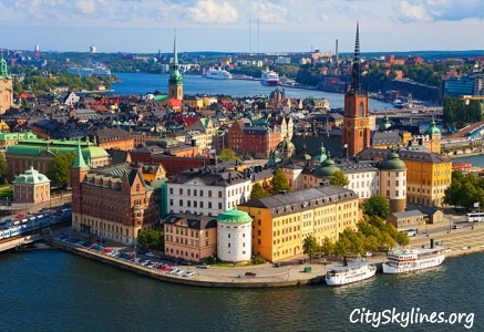 Stockholm Skyline, Sweden - Harbor View