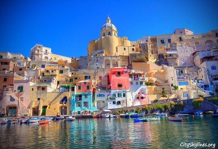 Procida Skyline - an Island off Naples, Italy