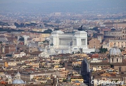 Rome Skyline - View of the Vittorio