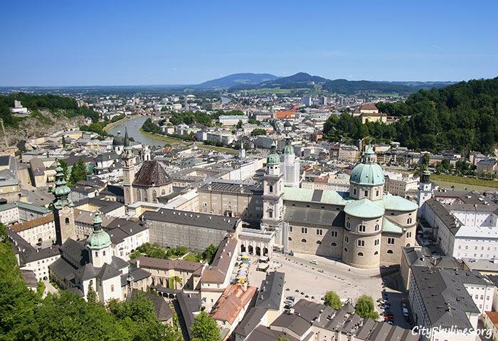 Salzburg City Skyline, Austria - Mountain Backdrop