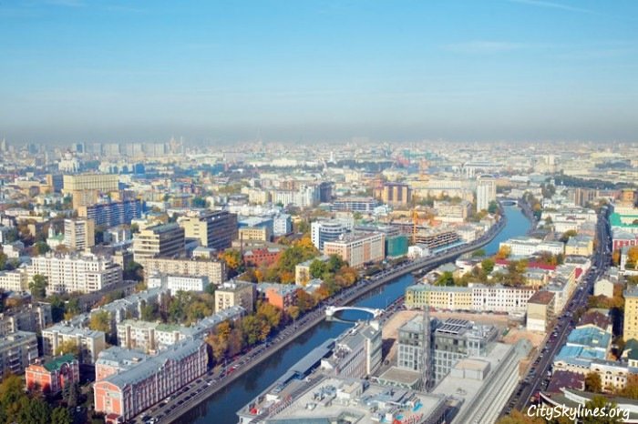 Moscow, Russia Aerial Overlook