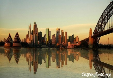 Sydney Skyline - Water Reflection, Australia