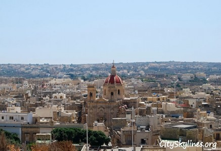 Victoria City Skyline in Gozo - Malta