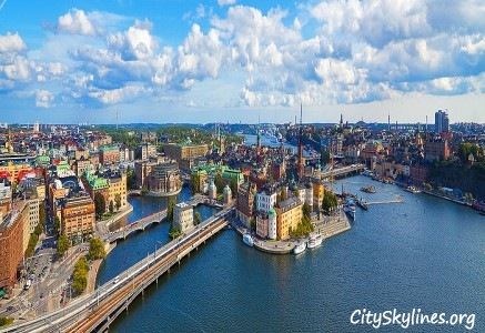 Stockholm City Skyline, Sweden - Water Overview
