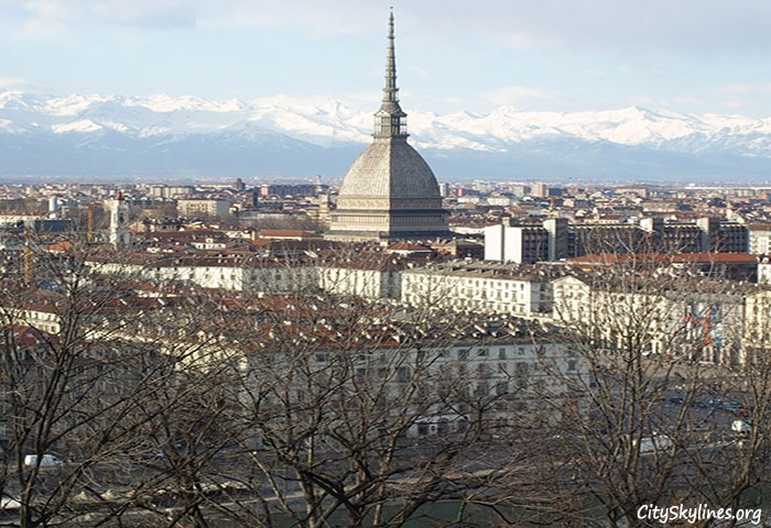 Turin City Skyline, Italy - Mountain View