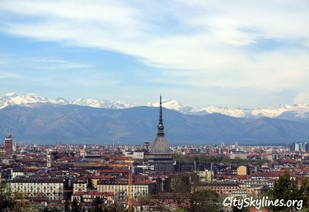 Turin Italy City Skyline