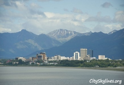 Anchorage, AK - Mountain Backdrop