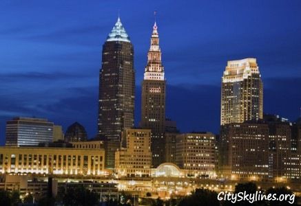 City of Cleveland at Night