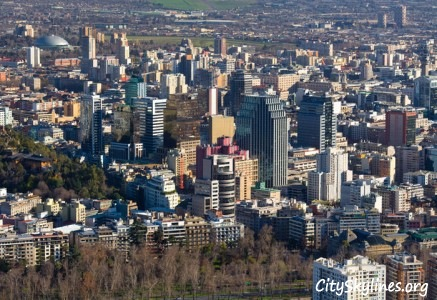 Downtown Santiago City Skyline