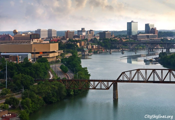 Knoxville, TN City Skyline - River Overlook