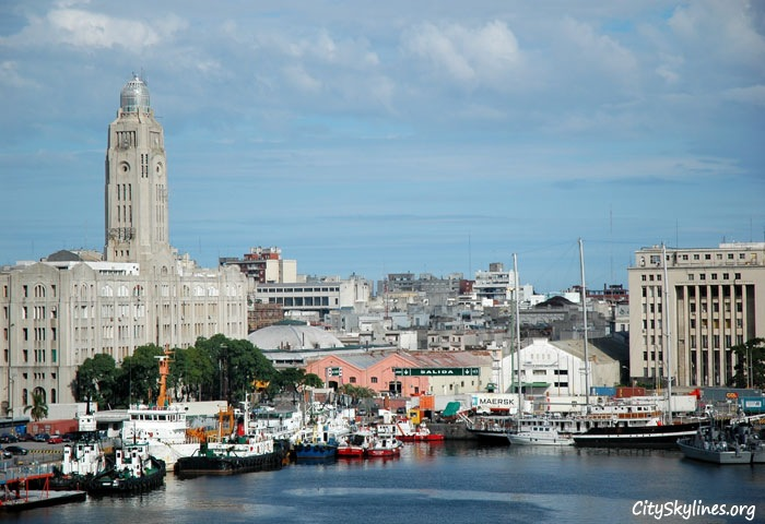 Montevideo Harbor Skyline