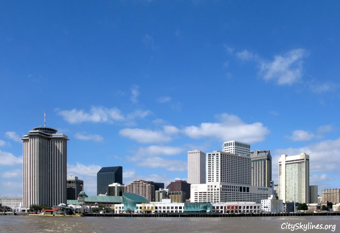 New Orleans City Skyline - Blue Skies