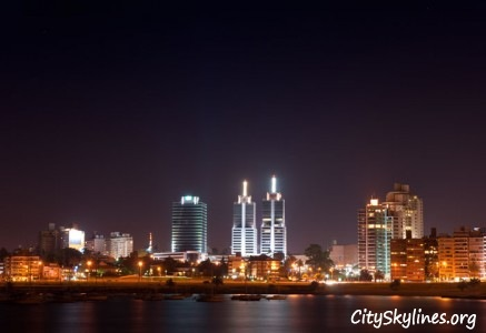Montevideo Night Skyline