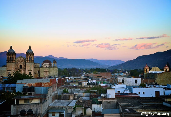 Oaxaca Mexico Skyline - Mountain Backdrop