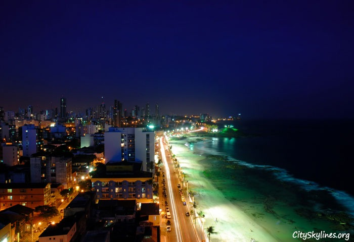 Salvador City Skyline - Beach Overlook