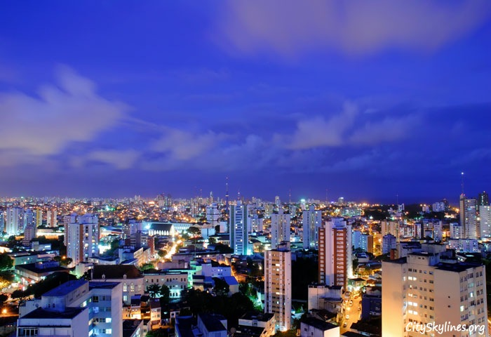 Salvador City Skyline at Night