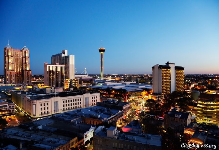 San Antonio City Skyline, Texas