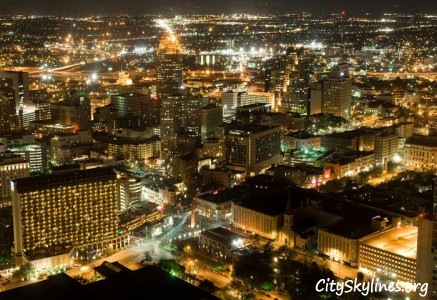 Night City Lights in San Antonio, TX