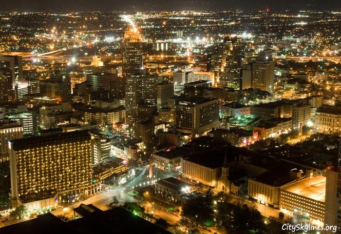 San Antonio City Skyline at Night