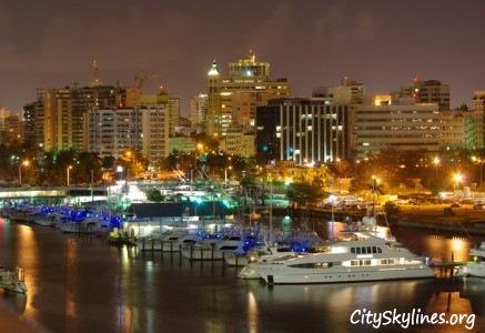 San Juan, Puerto Rico City Skyline