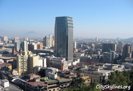City of Santiago, Chile Skyline