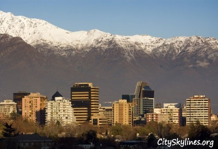 Santiago City Skyline - Mountain Backdrop