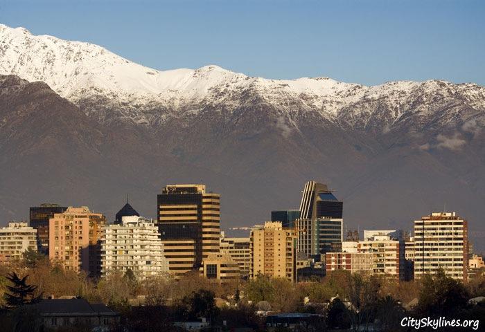 Santiago City Skyline - Mountain Backdrop