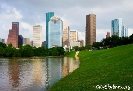 Houston Texas City Skyline