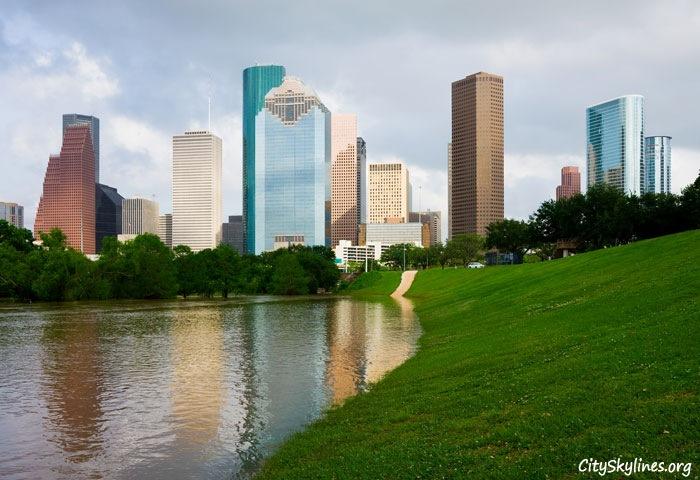 Houston Texas City Skyline