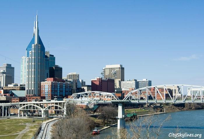 Nashville Skyline - Bridge View