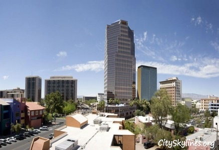 City of Tucson Arizona Skyline