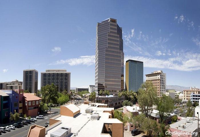 City of Tucson Arizona Skyline