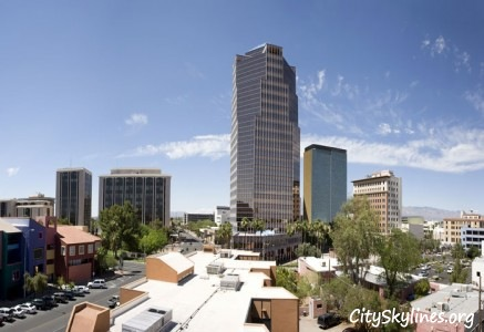 Tucson City Skyline in Arizona
