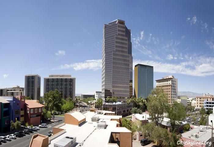 Tucson City Skyline in Arizona