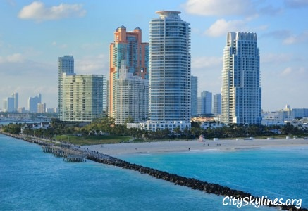 South Beach Skyline in Miami Beach Florida