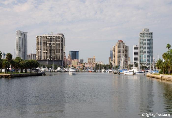 St. Petersburg City Skyline in Florida