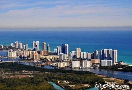 Sunny Isles Beach City Skyline, Florida