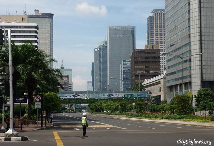 Jakarta's streetscape